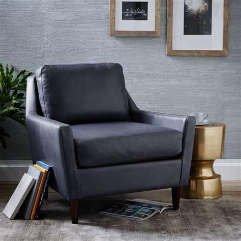 West Elm Everett Chair by Everett Leather Chair West Elm