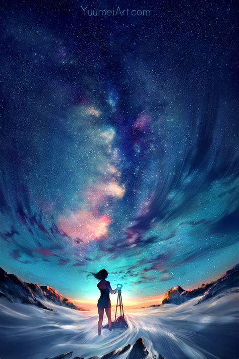 Anime In The Sky Capture The Sky By Yuumei On Deviantart