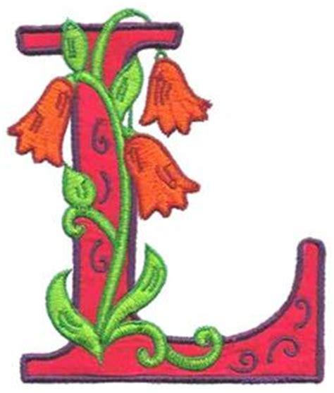 letter l design flower letter l out 1z125l embroidery design by glenn 52578