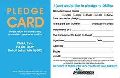 pledge cards  churches pledge card templates