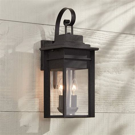 bransford 17 quot high black specked gray outdoor wall light