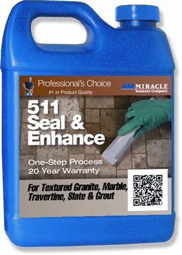 miracle sealants  seal enhance  stone qrt