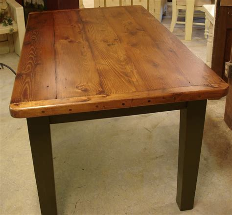 handmade kitchen furniture plank farm table breadboard ends dutchcrafters dining tables