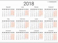 Kalendarz 2018 4 2018 Calendar printable for Free