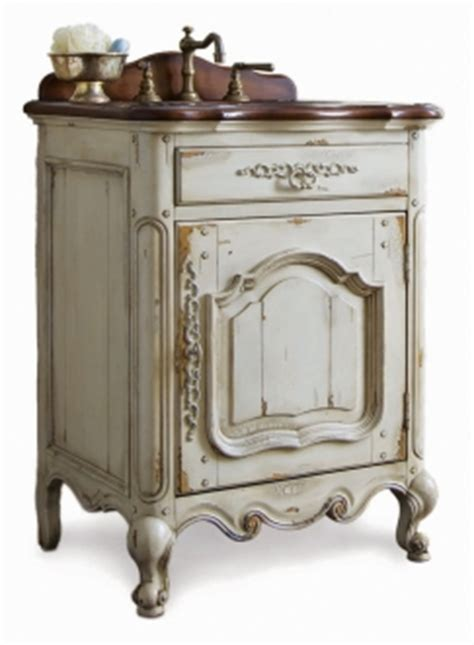 antique white bath vanities   cottage style bathroom