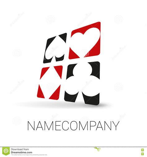 playing card suit logo stock vector image