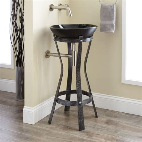 wrought iron sink stand rouleau wrought iron vessel sink stand bathroom