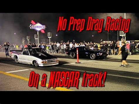 no prep drag racing is it the next big thing rod no prep racing on nascar pit road