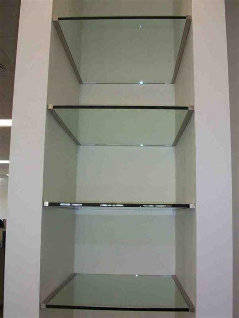 custom cut glass shelves decor ideas