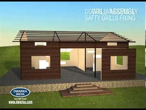 ready built sheds pre fabricated home dwarka india