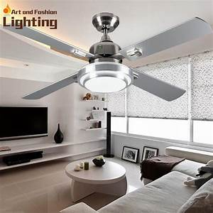 Super quiet ceiling fan lights large inches modern