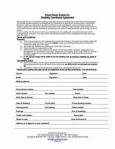 wedding planner contract sample templates life hacks With free wedding contract forms