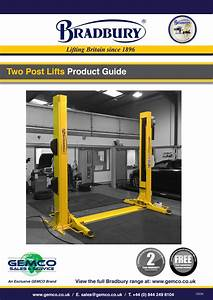 Bradbury Two Post Lifts Product Guide By Gemco