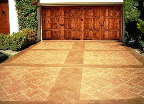 stained driveway ideas repair renew your concrete driveway or garage floors stone medic