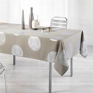 Nappe De Table Rectangulaire : nappe rectangulaire l240 cm platine taupe nappe de table eminza ~ Teatrodelosmanantiales.com Idées de Décoration