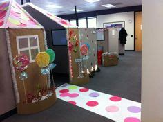 outrageous cubicle birthday decorations make a gingerbread playhouse gingerbread lights and house