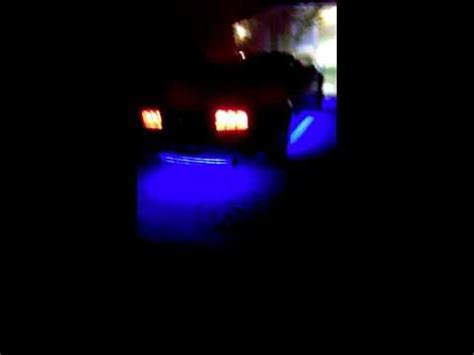 black light underglow underglow on a ford mustang