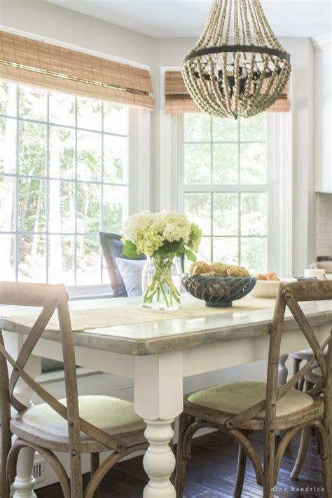 farmhouse breakfast nook reveal dining room inspiration