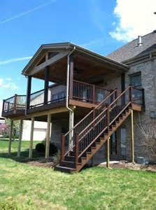 Elevated Deck Designs by Elevated Screen Porch Designs Covered Decks And Screened