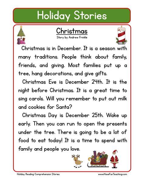 christmas worksheets comprehension reading comprehension worksheet christmas