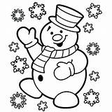 Coloring Snowflake Pages Frosty Printable sketch template