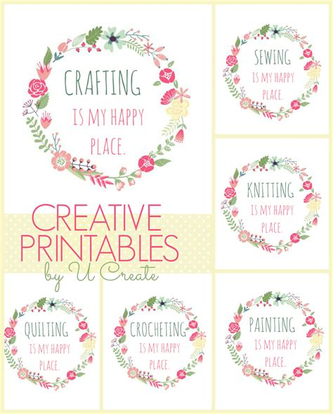 free printables happy place u create