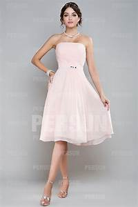 Robe Rose Pale Demoiselle D Honneur : robe rose demoiselle d honneur bustier droit pliss e ceintur e en mousseline ~ Preciouscoupons.com Idées de Décoration