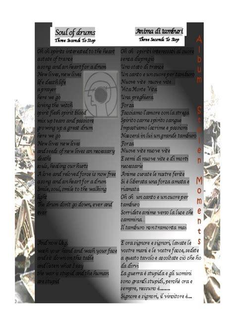 single testo e traduzione soul of drums testo e traduzione