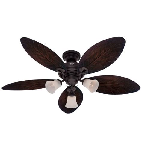 light fixture for hunter ceiling fan hunter 23970 oasis 54 inch 3 speed ceiling fan with 3