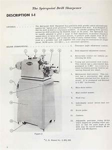 Cincinnati Model Lm Spiropoint Drill Sharpener