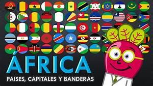 AFRICA Paises Capitales Banderas para Niños GEO Mapas Mundo YouTube