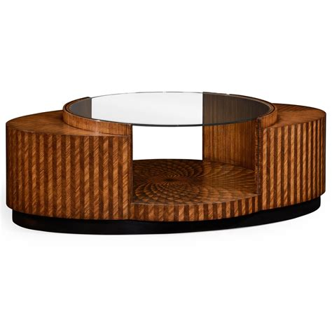 Art Deco Coffee Table With Glass Top  Swanky Interiors