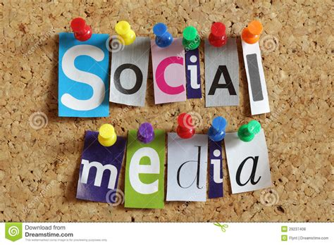 Image In The Media Social Media Stock Photo Image Of Board Networking