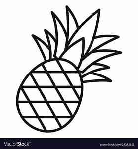 Pineapple icon outline style Royalty Free Vector Image