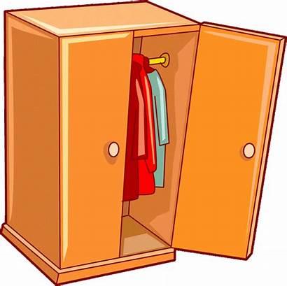 Clipart Wardrobe Cupboard Closet Esl Bedroom Vocabulary