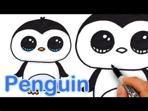 draw  cute cartoon penguin easy step  step youtube