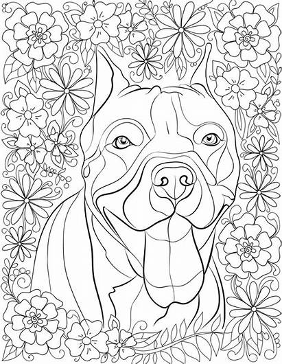 Coloring Pages Adults Dog