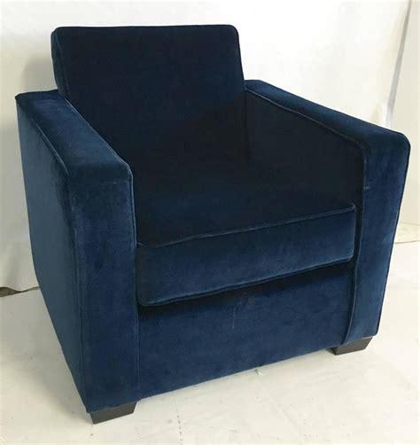 ralph deco blue velvet club arm chair for sale