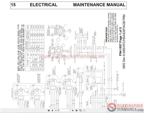 2007 Kenworth Truck Wiring Diagram by Kenworth Wiring Diagrams T4 T6 T9 Conventional Models