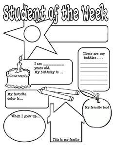 Of The Week Poster Template by 1000 Ideas About Students On All About