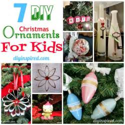 7 diy christmas ornaments for kids diy inspired