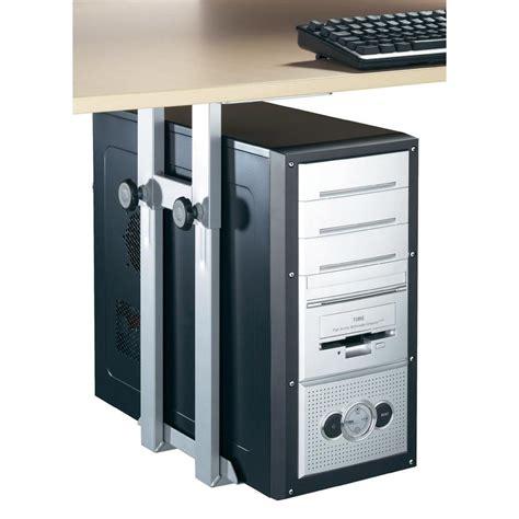under desk laptop holder under desk computer tower holder black from conrad