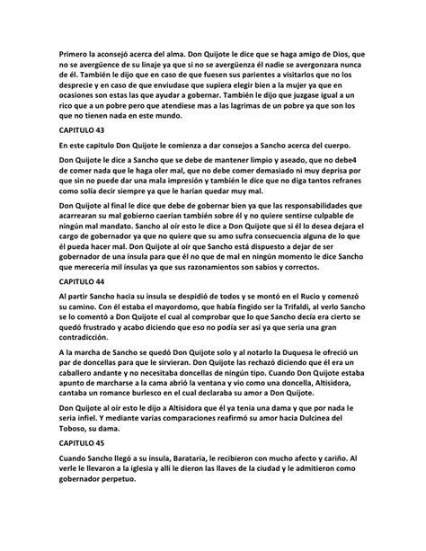 Resumen Cap 1 Don Quijote by Resumen Por Cap 237 Tulo Quijote De La Mancha