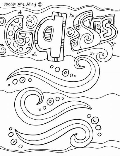 Coloring Pages Science Matter States Doodle Gases