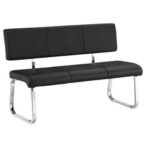 banc noir banc design avec dossier vilas noir mobil meubles