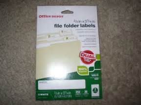 Printable File Folder Labels