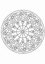 Coloring Kaleidoscope Pages Adults Popular Printable sketch template
