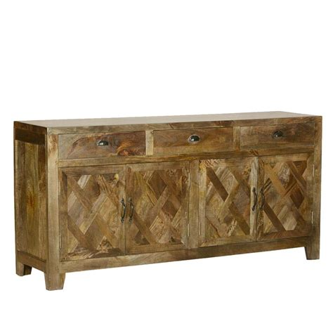 Rustic Sideboards by Parquet Farmhouse Mango Wood Rustic Sideboard Buffet Cabinet