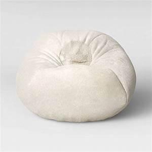 Pillowfort, Fuzzy, Bean, Bag, Chair, Cream, -, Walmart, Com
