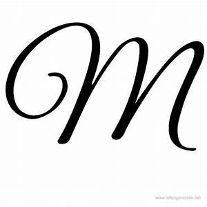 Great Vibes Printable Cursive Alphabet Letter M   Hand ...